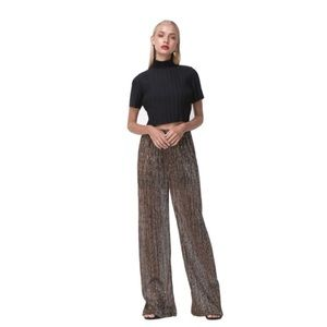 🆕 Torn by Ronny Kobo Metallic Palazzo Pants